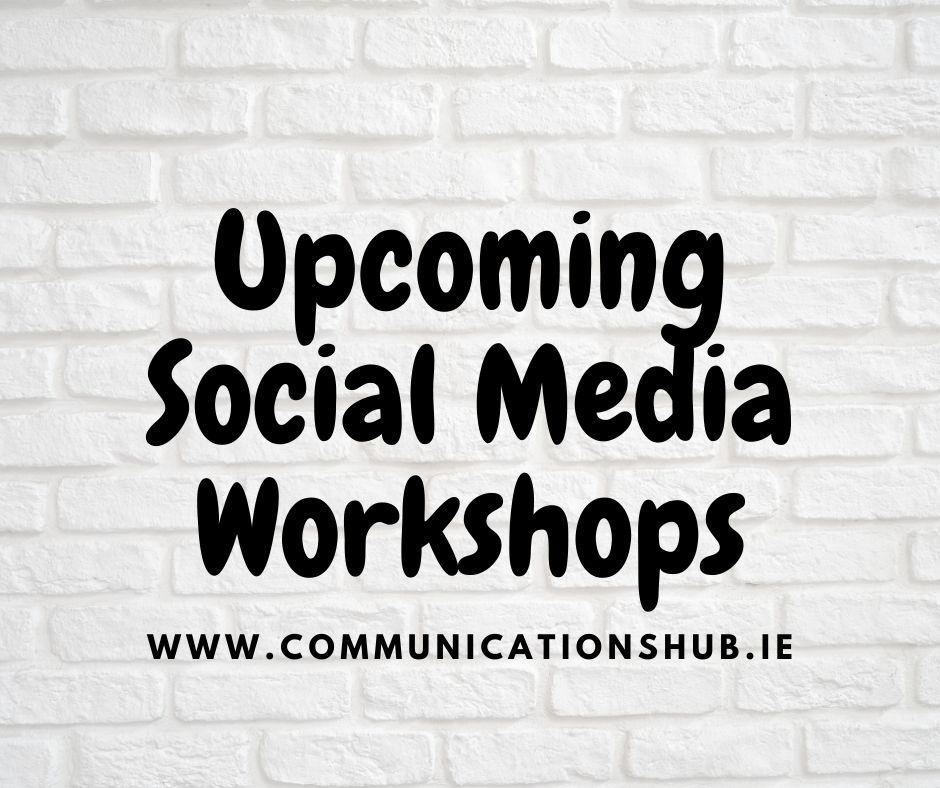Upcoming Social Media Workshops
